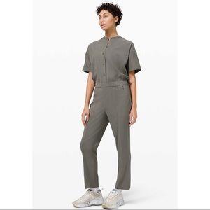 Lululemon Perfectly Poised Jumpsuit in Grey Sage